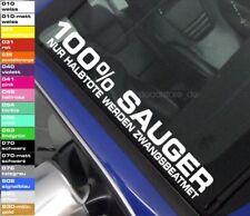 1x Autoaufkleber 100% Sauger Frontscheibe Sticker Shocker JDM V6 V8 decal