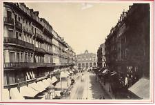 France, Lille, rue Faidherbe Vintage albumen print. Tirage albuminé  10x16