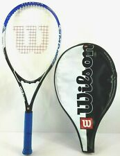 Wilson Power Bridge Tennis Racquet Volcanic Frame Racket Blue Titanium W/Cover