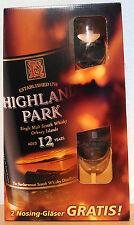 Highland Park 12 anni con 2 Nosing-bicchieri (vecchia imbottigliamento) 40%/0,7l rarità!