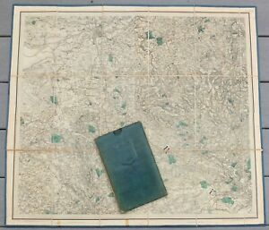 1843 First Issue Ordinance Survey Map Of Lancaster England Linen Back With Case