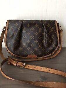 Authentic Louis Vuitton Monogram crossbody handbag LV shoulder Bag
