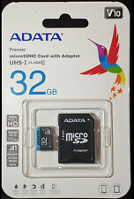 ADATA 32GB Micro SD HC Class 10 85MB/s A1 For Nintendo Switch Nextbase Dash Cam