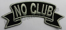 Patch Aufnäher Nr.20 NO CLUB, Biker Aufnäher Patches Route66 Motorrad CustomUSA