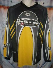 Mossi Xtreme Racing Jersey Shirt Long Sleeve Yellow Black Size M Mens