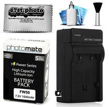 Baterías para cámaras de vídeo y fotográficas Sony con cargador incluido