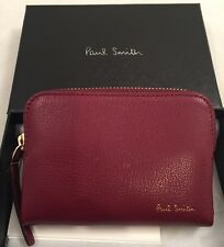 Paul Smith Men Mini Zip PCH Goat Made In Italy Leather Red RRP£190