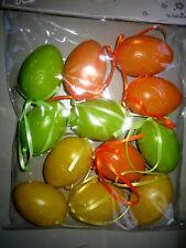 12 Ostereier, Eier, Ostern  Plastikeier Mittel ca 60 x 40mm Geprägt 85115