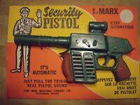 Vintage MARX Toy Rifle Security Pistol Mint on Display Card Linemar Marx Canada