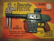 Vintage MARX Toy Rifle Security Pistol Mint on Display Card Linemar Marx Canada