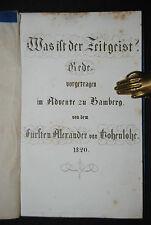 Hohenlohe, Alexander von - Was ist der Zeitgeist? - Rede – Bamberg 1820