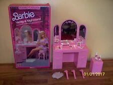 Vintage Barbie Sweet Roses Vanity & Nightstand, vintage 1987, Mattel with box