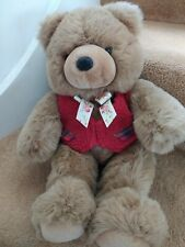 """NEW LARGE 20"""" JOHN LEWIS MISCHIEF BROWN TEDDY BEAR SOFT TOY RED WAISTCOAT"""