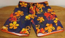 Vintage Quiksilver Men's Board Shorts Swim Trunks Surf Size W34 Multi-Color Fly