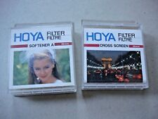Hoya 49mm Filters - Softener A And Cross Screen ***Excellent Condition***