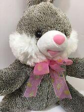 "Dan Dee Plush Rabbit Bunny 14"" Gray White Collector's Choice Stuffed Animal 2013"