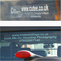 Create Your Own Design On Car Window Stickers-Custom Printed-Van,Taxi,Truck Sign