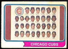 1974 TOPPS OPC O PEE CHEE BASEBALL #211 CHICAGO CUBS TEAM CARD VG-EX W RON SANTO