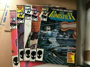 The Punisher #1-5 Limited Series Full Set Marvel Comics 1985 High Grade