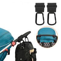 2x Baby Stroller Pram Pushchair Shopping Bag Handbag Hook Hanger Clips Carrier S