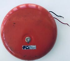 "Alarm Bell 8"" Red School Factory Fire Control Instruments FCI Steampunk Working"