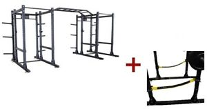 Body-Solid SPR1000SSDBBack Extended Double Power Rack Package w/Power Rack Strap