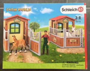 Schleich Farm World 72116  Besuch im Offenstall, neu
