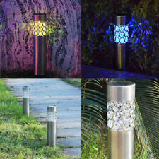 LED Solar Lawn Light Outdoor Stainless Steel Garden Landscape Pathway Lamp