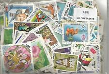 Lot 500 timbres d'Asie