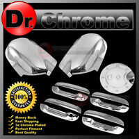 02-09 GMC Envoy Triple Chrome Mirror+4 Door Handle W/O PSG Keyhole+Gas Cover