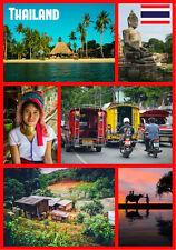TAILANDIA - RECUERDO ORIGINAL Imán de NEVERA - MONUMENTOS/Banderas -REGALOS-
