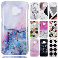 For Samsung Galaxy J2 J3 J4 J6 J7 J8 Marble Painted Soft Silicone TPU Case Cover