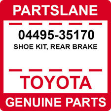 04495-35170 Toyota OEM Genuine SHOE KIT, REAR BRAKE