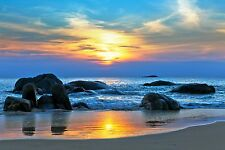 A0 Large Canvas Australia  photo landscape art  beach ocean sunset sunrise Photo