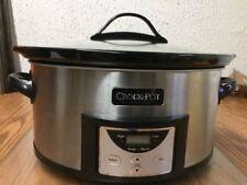 Crock-Pot 6 Qt Programmable Cook & Carry Slow Cooker Silver SCCPVL610T BOX DAMAG