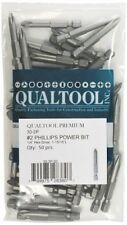Qualtool Premium 30-2P-50 1/4-Inch Hex Drive Size 2 Phillips Power Bit, 50-Pack,