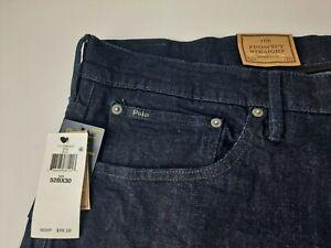 NEW Polo Ralph Lauren The Prospect Straight Stretch 52 Big Blue Jeans Denim V3