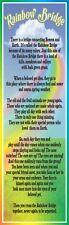 Rainbow Bridge Sympathy Poem Sign Featuring Inspirational Quote About Pet PM493
