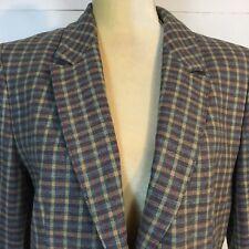 c4923ff4b3 Vintage Pendleton Womens Jacket Light Blue Red Plaid Check Wool Two-Buttons  M