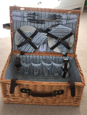 More details for luxury wicker picnic basket, serves 4, used once