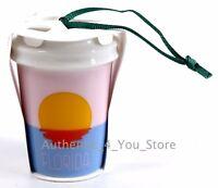 "NEW 2017 Starbucks FLORIDA Sunset Tumbler Mug Cup Christmas Tree Ornament 2.5"""