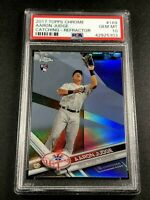 AARON JUDGE 2017 TOPPS CHROME #169 REFRACTOR ROOKIE RC PSA 10 YANKEES (D)