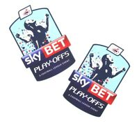 SKY BET FOOTBALL LEAGUE PLAY-OFFS 2014/16 / 2 x PRO-S ARM PATCHES = PLAYER SIZE