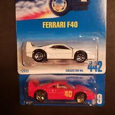 Hot Wheels Gold Medal Speed Ferrari F40 Collector #69 Lot of 2