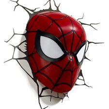Marvel INCREDIBLE SPIDERMAN MASK 3D FX LIGHT Wall DECO Night Light + Sticker