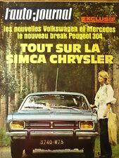 L'AUTO JOURNAL 1970 15 LIGIER JS1 SIMCA 1100 S KADETT CARAVAN RINDT CHAPARRAL 2J