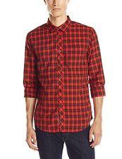 Billabong Men Riviera Red Flannel Shirt Sz Large Long Sleeve M504CRIV