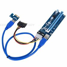 4pin USB 3.0 Pci PCI-E Express 1x To 16x Extender Riser Card Adapter Power Cable
