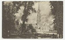 Postcard, Salisbury Cathedral from the Meadows by John Constable