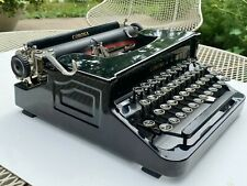Vintage Art Deco Corona Standard Glossy Black Typewriter With Case